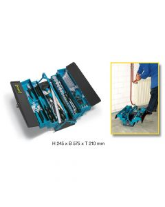 Hazet HAZ190/80 Metall-Werkzeugkasten mit Sortiment 190/80 - Höhe x Breite x Tiefe: 245 x 575 x