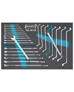 Hazet HAZ163-30/25 Ring-Maulschlüssel- / Doppel-Ringschlüssel-Satz 163-30/25 - Außen-Doppel-Sechsk