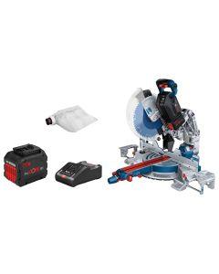 Bosch 0601B43001 Akku-Kapp- und Gehrungssäge BITURBO GCM18V-305 GDC, 2x Akku 12,0 Ah