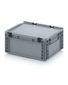 Auer ED 43/17 HG. Eurobehälter mit Scharnierdeckel, 40x30x18,5 cm