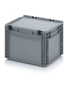 Auer ED 43/27 HG. Eurobehälter mit Scharnierdeckel, 40x30x28,5 cm