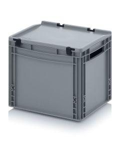 Auer ED 43/32. Eurobehälter mit Scharnierdeckel, 40x30x33,5 cm
