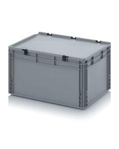 Auer ED 64/32 HG. Eurobehälter mit Scharnierdeckel, 60x40x33,5 cm