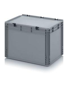 Auer ED 64/42 HG. Eurobehälter mit Scharnierdeckel, 60x40x43,5 cm