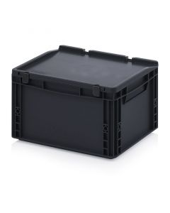 Auer ESD ED 43/22 HG. ESD Euro containers with hinge lid