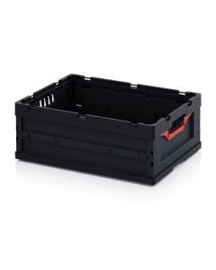 Auer ESD FB 64/22. ESD foldable boxes without lid, 60x40x22 cm
