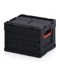 Auer ESD FBD 43/27. ESD foldable boxes with lid, 40x30x27 cm