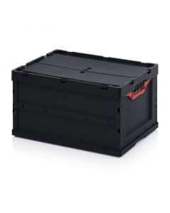 Auer ESD FBD 64/32. ESD foldable boxes with lid, 60x40x32 cm