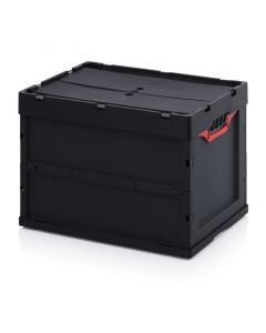 Auer ESD FBD 64/42. ESD-Faltboxen mit Deckel, 60x40x42 cm