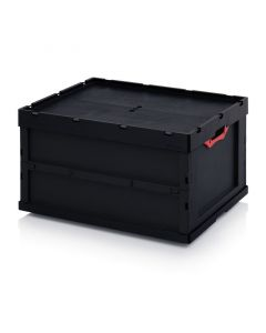 Auer ESD FBD 86/445. ESD foldable boxes with lid, 80x60x44,5 cm