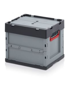 Auer FBD 43/32. Foldable boxes with lid, 40x30x32 cm