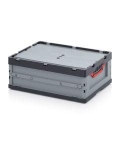 Auer FBD 64/22. Faltboxen mit Deckel, 60x40x22 cm