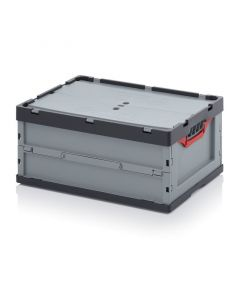 Auer FBD 64/27. Foldable boxes with lid, 60x40x27 cm