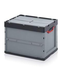 Auer FBD 64/42. Foldable boxes with lid, 60x40x42 cm