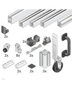 Bosch Rexroth 3842524165. EcoSafe-Schiebetür ohne Überbau