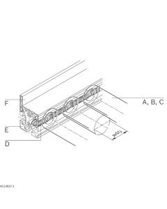 Bosch Rexroth 3842525741. Rollenhalter, Rollenfix, Rolle