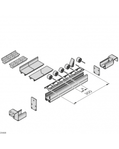 Bosch Rexroth 3842532865. Rollenhalter, Stahlachse, Rolle