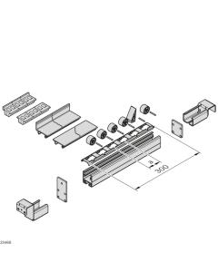 Bosch Rexroth 3842532870. Rollenhalter, Stahlachse, Rolle