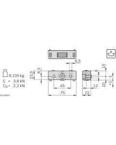 Bosch Rexroth 3842535662. Traglager LF6