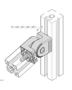 Bosch Rexroth 3842546564. Gelenk 45x45 lockable