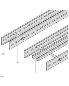 Bosch Rexroth 3842546687. Streckenprofil STS offen Querverbinder STS Stützprofil STS