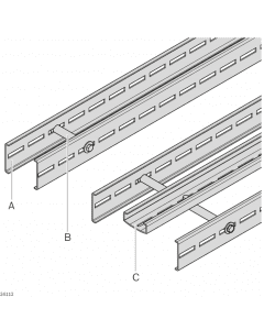 Bosch Rexroth 3842546707. Streckenprofil STS offen Querverbinder STS Stützprofil STS