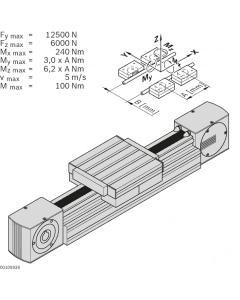 Bosch Rexroth 3842998499. Laufrollenführung LF20S – Komplettachse