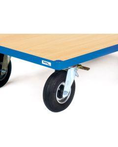 Fetra 1098. Räder mit Luftbereifung. 220x70 mm, Tragkraft 400 kg, ab 600 mm Wagenbreite möglich