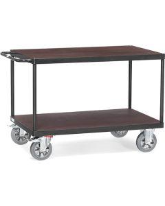 """Fetra 12405/7016. Tischwagen """"GREY EDITION"""". 1200 kg, mit 2 Böden aus Holz"""