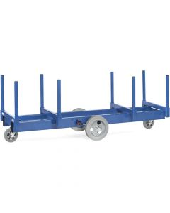 Fetra 2123. Langmaterial-Wagen. bis 3000 kg, mit Rungen 500 mm lang