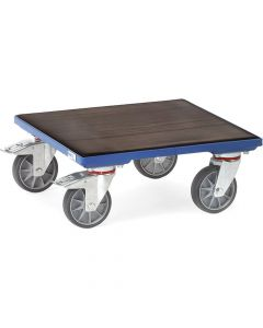 Fetra 2174. Kistenroller. 400 kg, mit Holz-Plattform mit Riefengummi