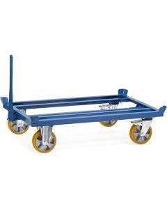 Fetra 22601. Paletten-Fahrgestell als Routenzug. 1000 kg, für Flachpaletten und Gitterboxen, seitliche Be- und Entladung mittels Gabelstapler