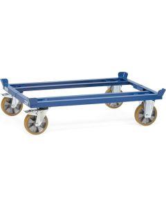 Fetra 22701. Paletten-Fahrgestelle. 2200 kg, für Flachpaletten und Gitterboxen, mit Polyurethan-Bereifung
