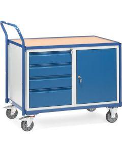 Fetra 2635. Leichte Werkstattwagen. 300 kg, mit 1 Schrank und 4 Schubladen