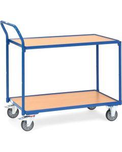 Fetra 2742. Leichte Tischwagen. 300 kg, mit 2 Böden aus Holz, Griff hochstehend