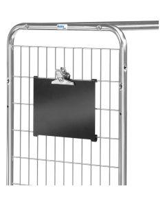 Fetra 28KT3. Kennzeichnungstafel für Kommissionierwagen. In Stirnwand einhängbar. Mit Papierklammer