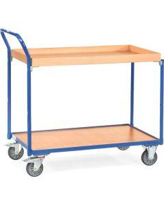 Fetra 3742. Leichte Tischwagen. 300 kg, mit 1 Boden und 1 Kasten aus Holz, Griff hochstehend