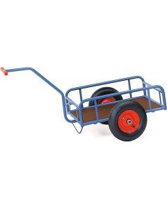 Fetra 4104. Handwagen. bis 400 kg, 1-Achser, mit Geländer, 250 mm hoch