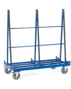 Fetra 4475. Plattenwagen. 1200 kg, zweiseitige Anlage mit Profilgummi belegt