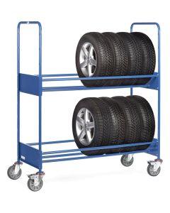 Fetra 4586. Reifenwagen. 250 kg, mit 2 Ladeflächen