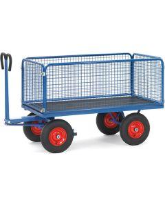 Fetra 6433L. Handpritschenwagen. bis 1250 kg, mit Drahtgitterwände, 600 mm hoch
