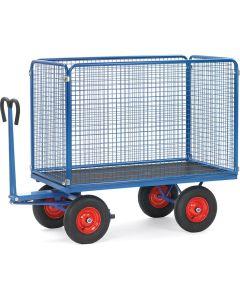 Fetra 6444L. Handpritschenwagen. bis 1250 kg, mit Drahtgitterwände, 1000 mm hoch