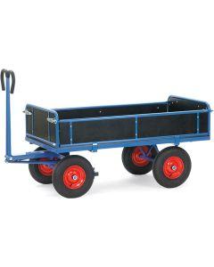Fetra 6454L. Handpritschenwagen. bis 1250 kg, mit Bordwänden, 3 Seiten abklappbar