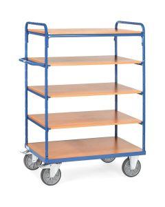 Fetra 8240. Etagenwagen mit Böden. bis 600 kg, mit 5 Böden aus Holz