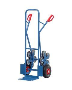 Fetra TK1327. Treppenkarren Stahl. 200 kg, mit 2 fünfarmigen Rad-Sternen