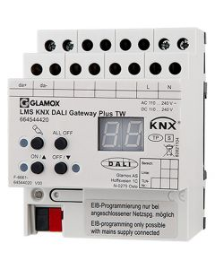Glamox 664100423. Beleuchtung LMS KNX PUSH BUTTON Interface 4-FOLD