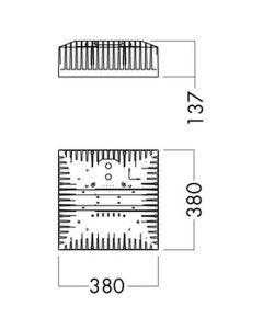 Glamox I80222100. Industrie Beleuchtung I80 LED 10000 Dali G2 840 NB HTG