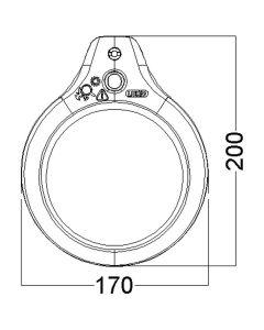 Glamox LFG028194. Lupenleuchten LFM LED G2 T105 Wh 700 840 3D CLA EU