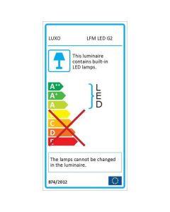Glamox LFG028195. Lupenleuchten LFM LED G2 T105 Wh 700 840 5D CLA EU