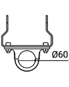 Glamox O559941321. Außenleuchten O55-W bracket für POLE 60 Aluminium